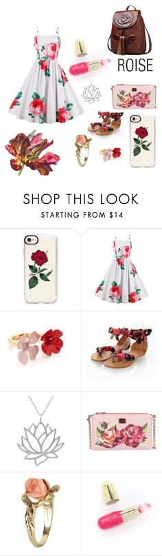 """""""roses"""" by arianak16 ❤ liked on Polyvore featuring Casetify, Marni, Journee Collection, Dolce&Gabbana, Vintage and Winky Lux"""