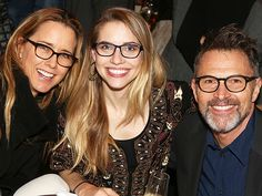What a spexy crowd! Tea Leoni, Wallis Currie-Wood & Tim Daly rock their glasses while at an opening party in NYC.