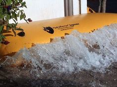 "Flood Barrier Instant Quick Dam Water Gate Spill Protection 12' Length 6"" Height #FloodBarrierInnovations"