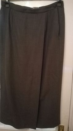 Pure Wool Pencil Skirt with Half Split Front by Jeager Size 14 Lined Brown Size 14, Pencil, Pure Products, Wool, Clothes For Women, Brown, Winter, Skirts, Fashion