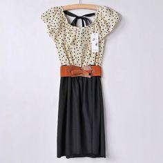 Vestido Dots com Cinto R$95.00