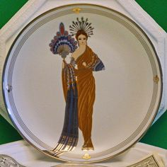 "Limited Edition House Of Erte ""Athena"" Collector Plate - Franklin Mint - SOLD!"