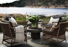 sletvoll Outdoor Rooms, Outdoor Gardens, Outdoor Living, Outdoor Decor, Garden Furniture, Outdoor Furniture Sets, Terrace Garden, Nature Decor, Outdoor Settings