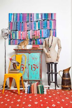 An eclectic vibe is going on! Take a look at this incredible collection of home wares presenting Lucy Fenton`s magical eclectic style. Distressed Furniture, Custom Furniture, Eclectic Style, Eclectic Decor, Home Decor Trends, Interior Design Inspiration, Design Ideas, Hand Coloring, Home Furnishings