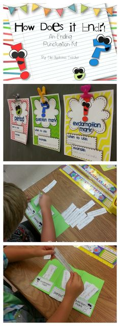 Teaching ending punctuation. Perfect reminder for the beginning of the year.