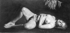 Golucho - Mujer II. Lápiz. (198 x 90)