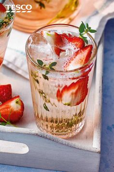 Easy To Make Cocktails, Summer Drink Recipes, Tesco Real Food, Refreshing Summer Drinks, Strawberry Recipes, Recipe Using, Food Hacks, Strawberries, Juice