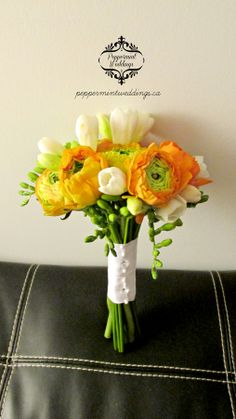 Orange Gerbera Daisies And White Roses Bouquet Beautiful But Simple Affordable Wedding Pinterest