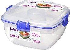 Sistema Klip It Collection Salad to Go Food Storage Container, 37.1 Ounce/ 4._.6 Cup
