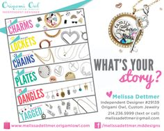 Origami Owl is a leading custom jewelry company known for telling stories through our signature Living Lockets, personalized charms, and other products. Origami Owl Necklace, Origami Owl Lockets, Origami Owl Jewelry, Origami Owl New, Origami Owl Business, Create Your Own Story, Jewelry Tags, Family Jewels, Personalized Charms