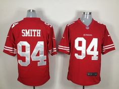 e490622b4  22 for Men s Nike San Francisco 49ers  94 Justin Smith Game Team Color  Jersey.