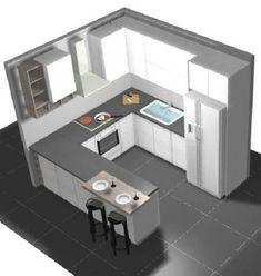 Home Decored Ideas Kitchen Designs Hoods 40 Ideas - wohnung - GS Home Kitchen Room Design, Kitchen Cabinet Design, Modern Kitchen Design, Home Decor Kitchen, Interior Design Kitchen, Small Modern Kitchens, Modern Kitchen Interiors, Kitchen Layout Plans, Cuisines Design