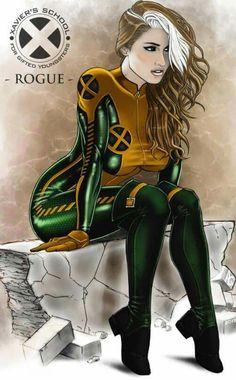 Drawing Marvel Comics X-Men OneShot Rogue by Anwar Gant aka geminisoku Comic Book Characters, Comic Book Heroes, Marvel Characters, Comic Character, Comic Books Art, Female Characters, Comic Art, Marvel Comics, Hq Marvel