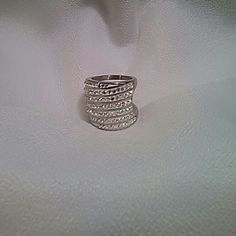 Jewelry Australian crystal ring. JUST REDUCED Mufti color. Stainless. It will not tarnish,break, or  bend Size 8-8.5 or wear on a larger finger. No stones missing Jewelry Rings