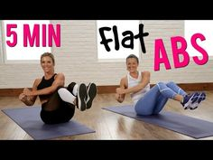 Day 3 Video 2: 5-Minute No-Crunch Flat Abs Workout   Class FitSugar - YouTube