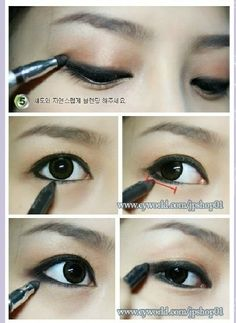 19 Awesome Eye Makeup Ideas For Asians How To Apply Black Eyeliner Korean Makeup Tutorial Blusher Makeup, Makeup Eyeshadow, Makeup Monolid, Makeup Korean Style, Makeup Style, Asian Style, Asian Makeup Before And After, Korean Beauty Tips, Asian Beauty