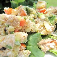 Tuna and Cottage Cheese Salad - could make this with chicken, too