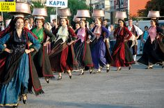 Lefkada's Dance Group of the Karya, Literature and the Arts, Lefkada Gypsy Costume, Folk Costume, Caucasian Race, Greek Traditional Dress, Folk Dance, Art Festival, Greek Costumes, Literature, Culture