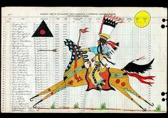 Cover of ledger book: Terrance Guardipee 1968 (Blackfeet) kK Native American Paintings, Native American Artists, Indian Paintings, Art Paintings, Abstract Paintings, Arte Tribal, Tribal Art, Kunst Der Aborigines, Southwest Art