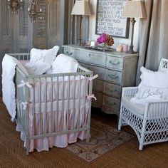 Pom Pom at Home Crib Bedding Embroidered Baby Linen Crib Duvet #laylagrayce