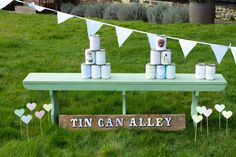 Wedding garden games hire- tin can alley. Wedding fete games