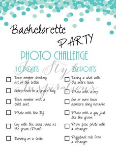 Instant Download / PDF: Bachelorette Party von InStyleInSpirations