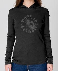 Rosie the Riveter - Women's - Long Sleeve Hoodie T-Shirt- Black
