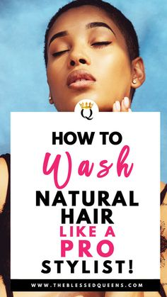 How To Wash Natural Hair Like A Pro Stylist! - The Blessed Queens - Melanie Natural Hair Regimen, Long Natural Hair, Natural Hair Growth, Hair Growth Tips, Hair Care Tips, Ingrown Hair Remedies, Ayurvedic Hair Care, Curly Hair Styles, Natural Hair Styles