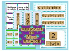 Scrabble Classroom Pack to help you get started for a new school year!