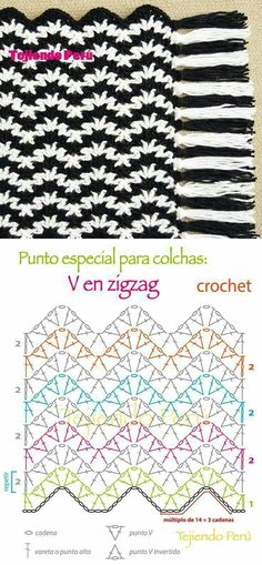 143 Best Crochet Ripple Stitch Images On Pinterest Crochet