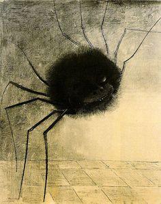 Symbolisme : Odilon Redon - L'araignée souriante (1881)