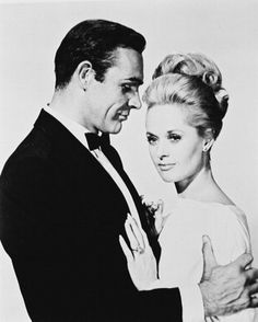 Sean Connery and Tippi Hedren in Marnie by A. Hitchcock