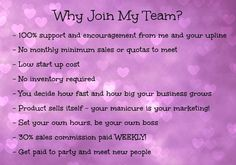 Jamberry is an amazing and new opportunity!  It started in 2010 so it is like getting in on the ground floor!  Let me know if you are interested in getting more info!