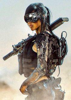 Likes, 37 Comments - Cyberpunk Cyberpunk Kunst, Cyberpunk 2020, Cyberpunk Girl, Mädchen In Uniform, Military Girl, Military Soldier, Sci Fi Characters, Science Fiction Art, Science Art