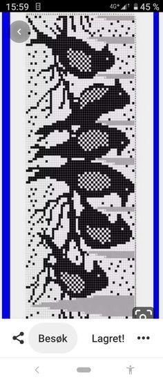 Fair Isle Knitting Patterns, Fair Isle Pattern, Knitting Charts, Crochet Patterns, Tiny Cross Stitch, Cross Stitch Patterns, Filet Crochet, Knit Crochet, Horse Pattern