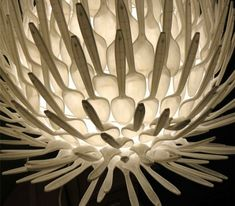 The lamp made of plastic spoons, it's a great idea! Morover materials, that have to be used you can find at any house! The idea of this lamp was awarded in 2010