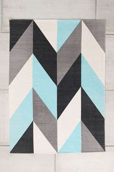 Assembly Home Chevron Flip PrintedRug - Urban Outfitters, also has a peach and navy option