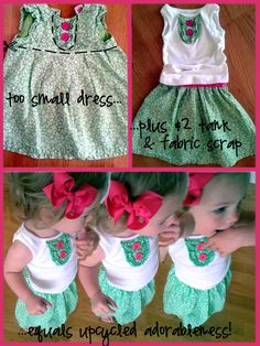 Upcycled Clothing Projects | Another Day, Another Little Girl's {upcycled} Outfit | CampClem