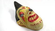 Vintage Paper Mache Handmade Mask Original by UrbanRenewalDesigns, $28.00