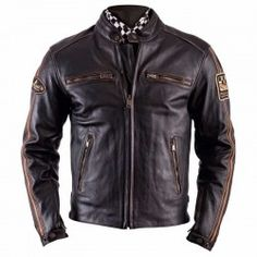 HELSTONS ACE cuir OLDIES Marron - Leather motorcycle jacket 897e08ad9f
