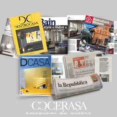 Several national and international magazines have chosen to talk about Cerasa. We're pleased with this. . . discover Cerasa's collections.