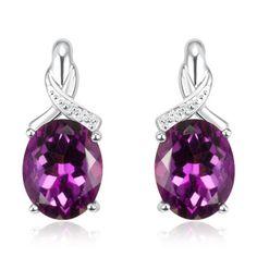 Purple Topaz Earrings in Sterling Silver