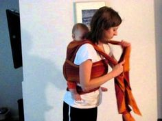 """""""Most Comfortable Back Carry"""" with a woven wrap"""