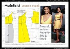 A3 NUMo 0170 DRESS - AMARELO - YELLOW/ REVEILLON 2016