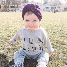 Obsessed with this little cutie in her Turban Hat ! Available size newborn- 2T.
