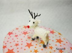 Micro Mini Amigurumi #Reindeer Teeny Tiny Crochet by SuAmi on Etsy