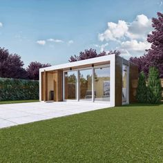 Beautifully modern garden Pod from eDEN Garden Rooms Garden Pods, Garden Room Extensions, Office Pods, She Sheds, Garden Studio, Garden Office, Kent London, Ideal Home, Tiny House