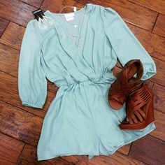 Wished I could wear rompers. Too cute with wedges or sandals.