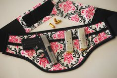 Fabric Concealed Carry Holster for women by FancyPantsHolsters