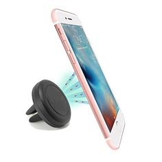 Cycling GPS Units - Car Mount NOKEA Air Vent Magnetic Universal Car Mount Holder for Smartphones includingGalaxy S7 S6 Edge Note 5 4 LG G5 G4 iPhone 6 6S SE Plus Nexus 5x 6P More One Pack >>> Check out this great product.